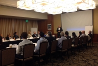 Dan Quiggle speaking at Vistage meeting at Miyako Hotel in Torrance