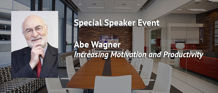 Small business owner speaker event with Abe Wagner