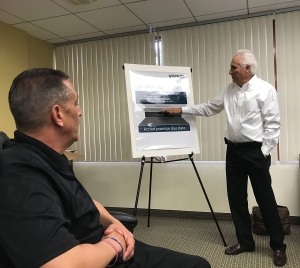 Torrance Vistage Chair George Walker explaining issue resolution process